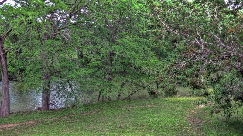 VIEW OF FRIO RIVER FROM BACK PORCH