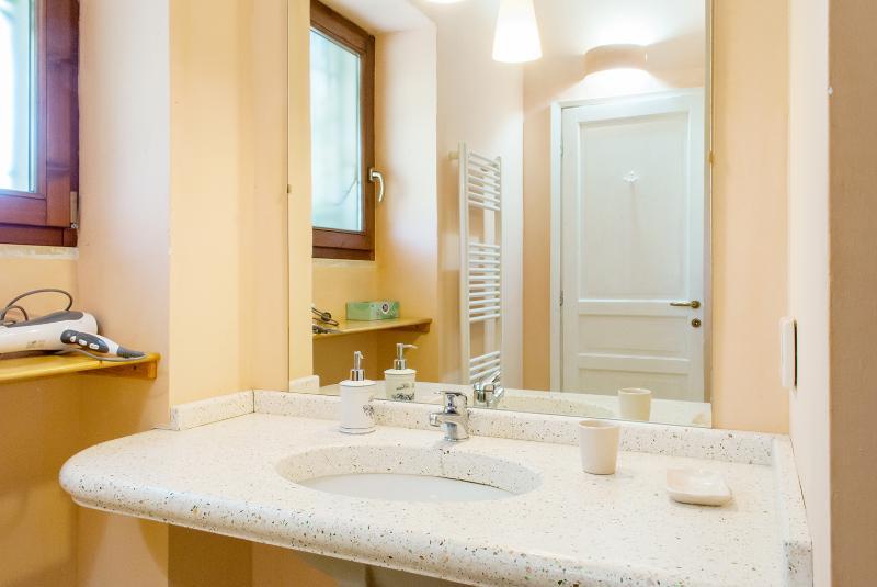 Bathroom inside the double