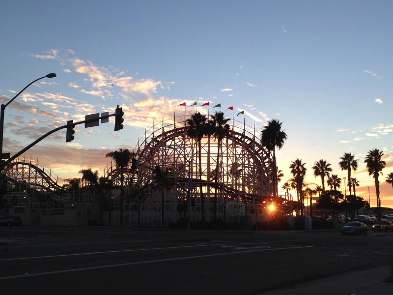 Location, location, location!   Just a block away from the Mission Beach roller coaster!