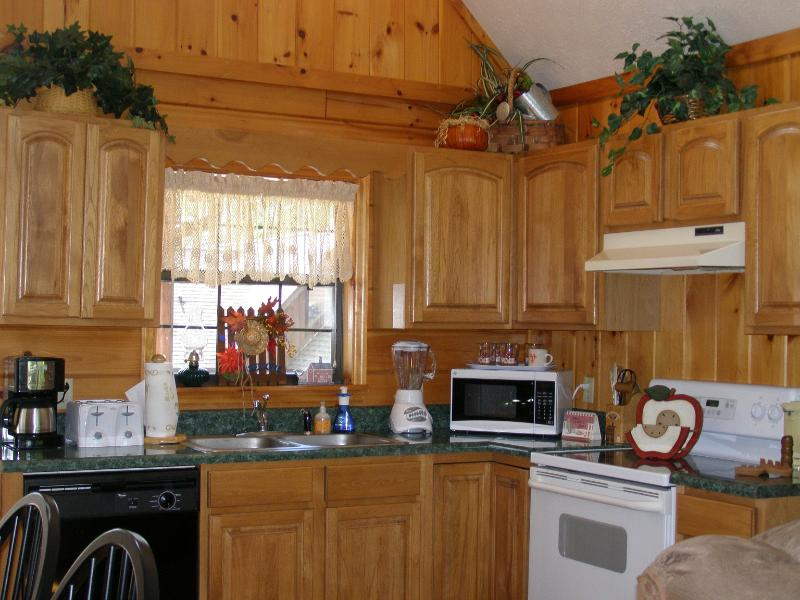 Cabin Fever has a fully equipped kitchen
