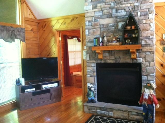 Large television in main living area