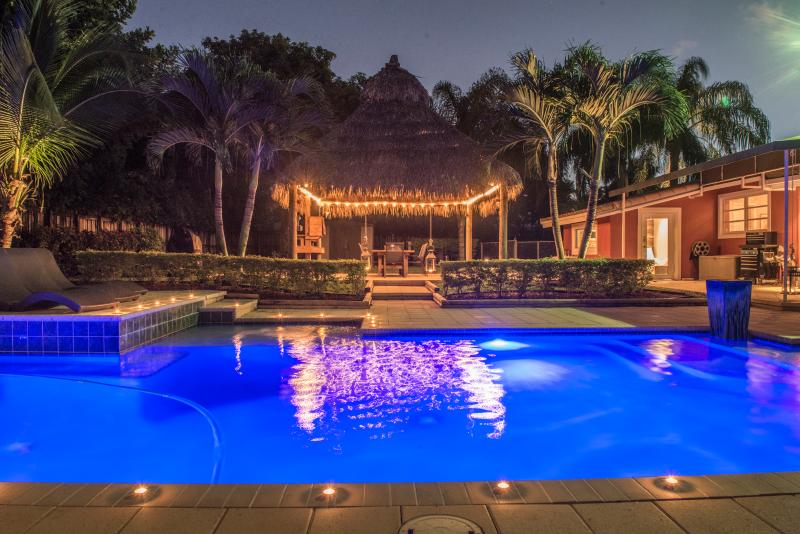 The pool at night..