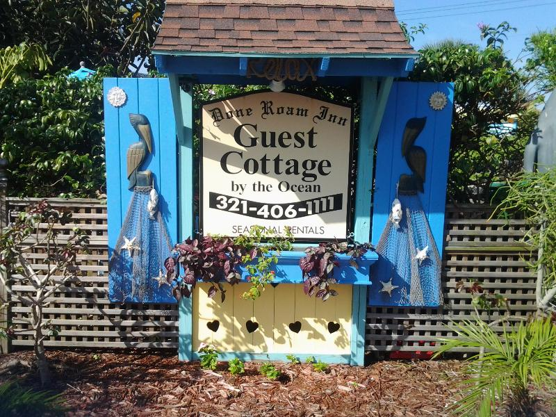 The updated Cottage sign, the first thing you'll see when you approach the Cottage.