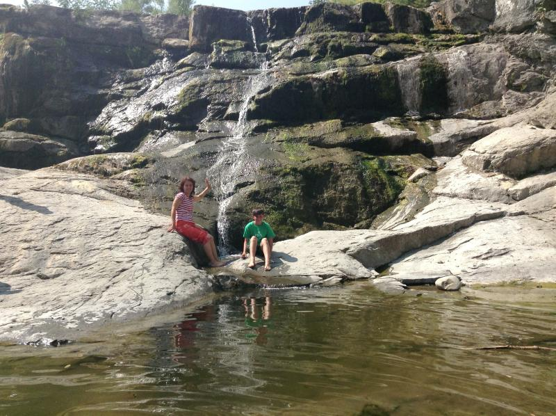 Swimming hole in a river near Apriltsi.