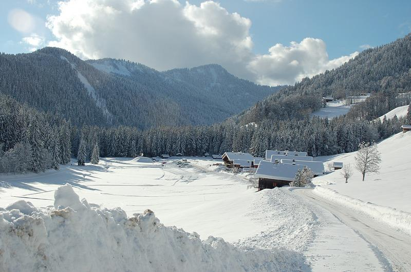 View over the Lormay valley with Chalet le 4 on the right