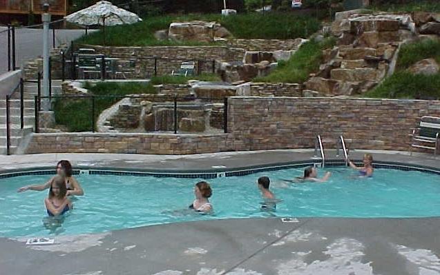 Resort seasonal pool in Phase 1