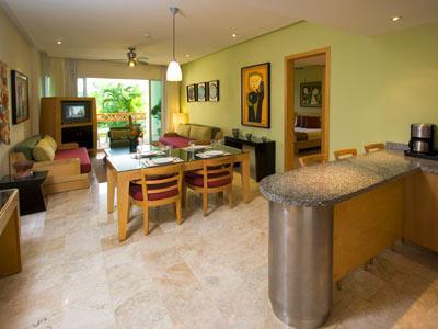 Living Room  Dining Room Bar Area Grand Mayan