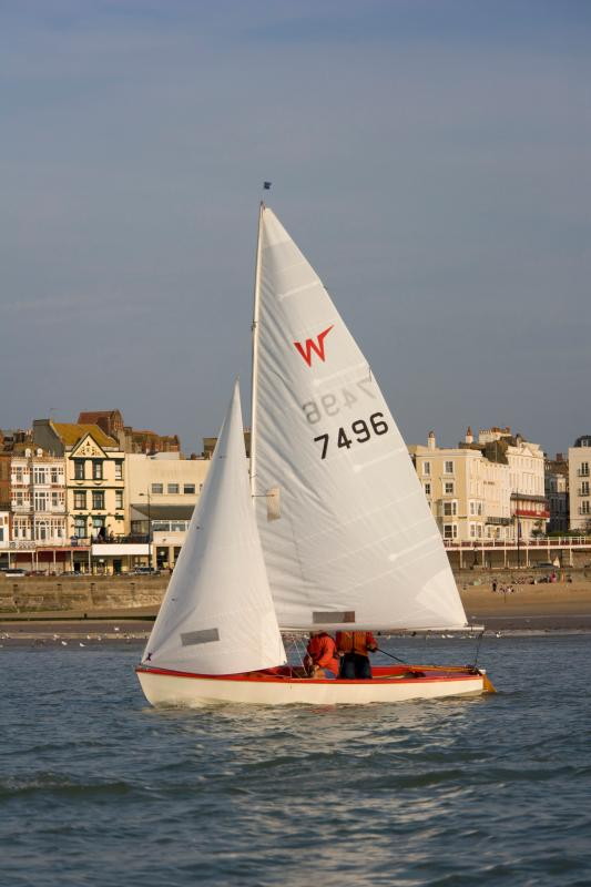 Sailing, Margate Seafront in background - credit Thanet Tourism