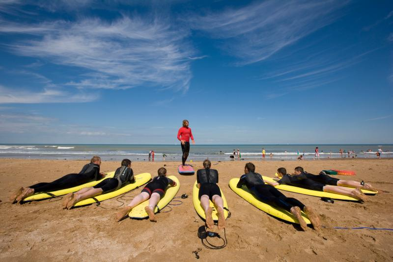 Joss Bay Surf School, Broadstairs 10 minutes drive from the Royal Seabathing - credit Thanet Tourism