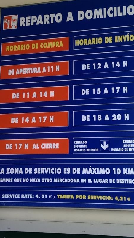 Local Mercadona supermarket will deliver to Mi Capricho