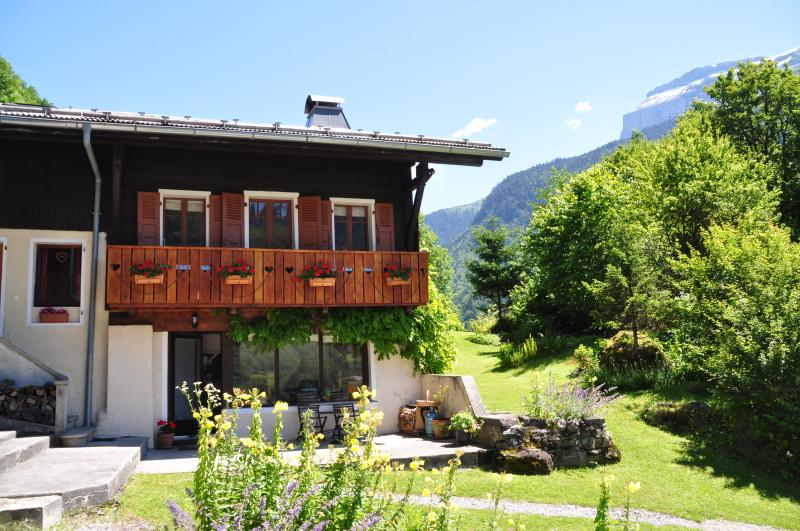 The chalet in summer!