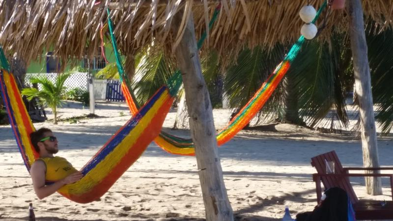 Relax in a hammock and sip a beer or your favorite beverage