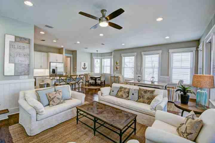 1st Floor features open floor plan integrating Kitchen, Living Room, and Dining Room