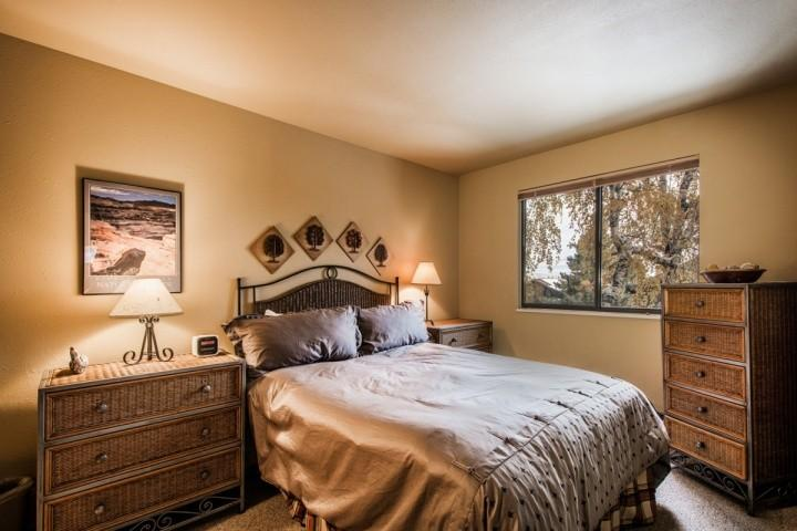 Master bedroom (1) is situated on the main floor and is equipped with a queen size bed, dresser,  closet and bathroom.