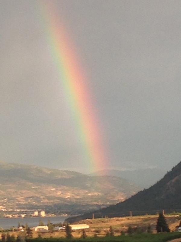Our Rainbows are quite incredible and often double rainbows with a pot of gold!