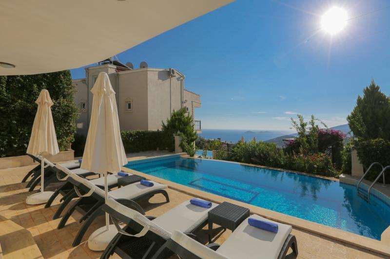 Seaview villa kalkan with pool