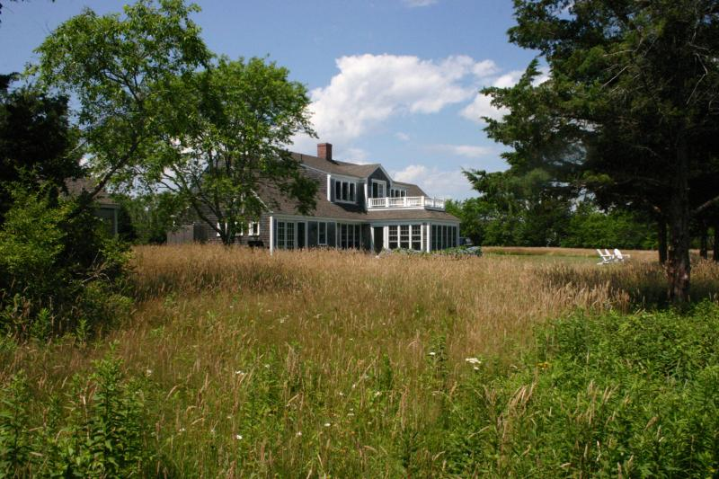 View of house from surrounding meadow