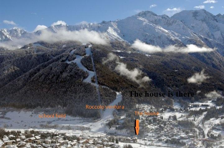 The house is located close to the slopes