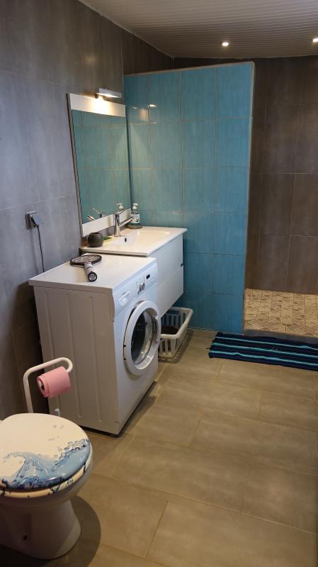 machine à laver, douche italienne