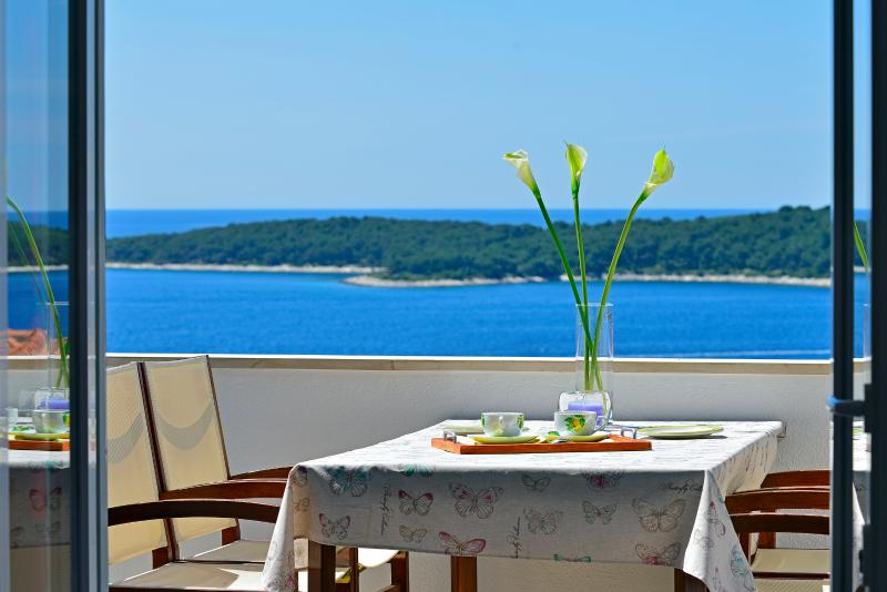Luxury one bedroom apartment with nice sea view, vacation rental in Hvar