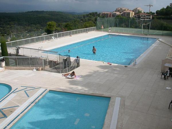 3 swimming pools 2 mins walk from the apartment. 1 for babies, a second for small children & 25m poo