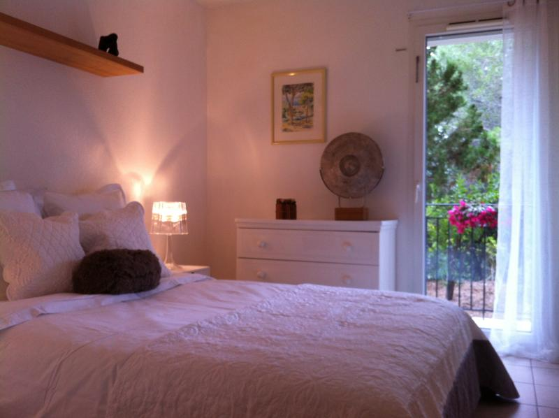 Cosy bedroom with fresh clean linen