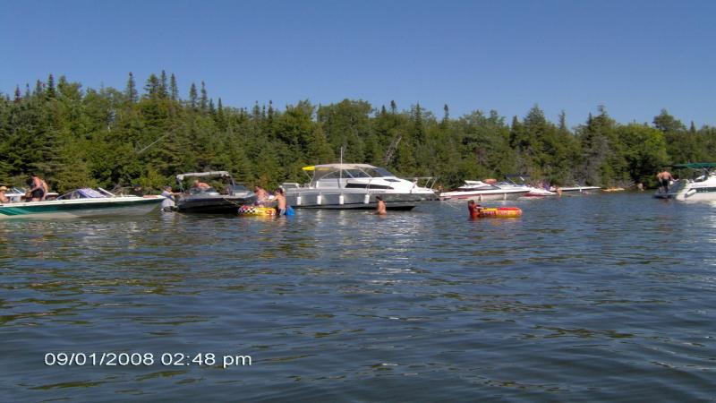 The 'Sandbar', approximately 5 mins from the cottage where boaters hang out