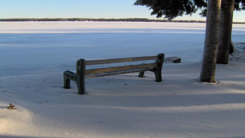 Winter view of Balsam Lake