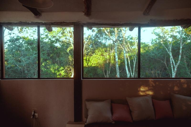 Living-room with an open area over the jungle
