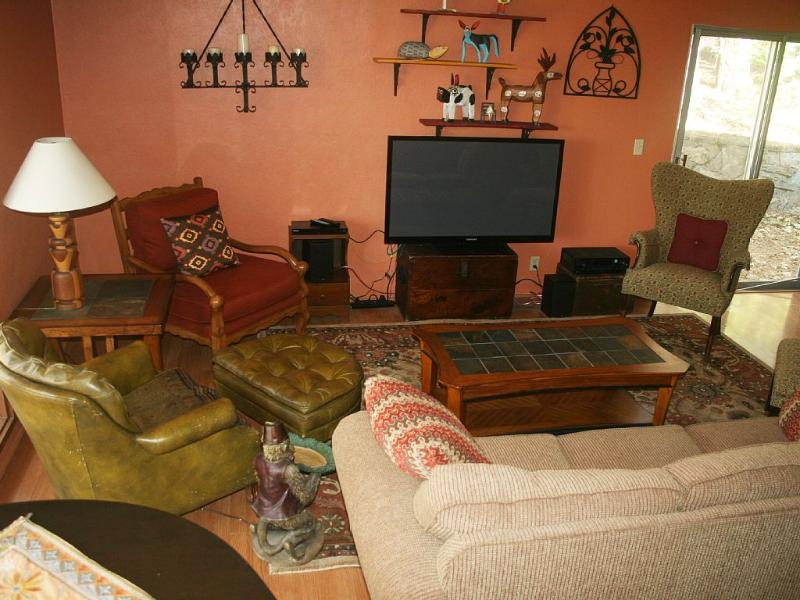 Enjoy Netflix or dvd's on blueray in the living room