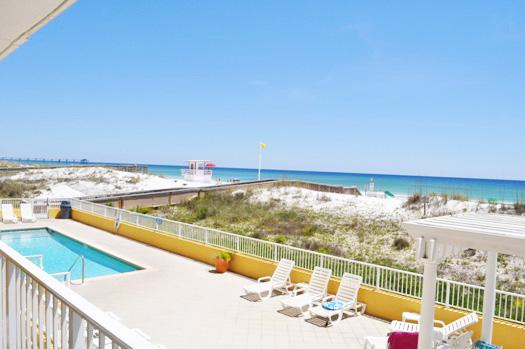 Balcony View Gulf Dunes Resort Unit 107 Okaloosa Island Florida