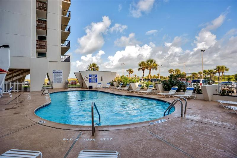 Soak up the Texas sunshine next to the sparkling community pool