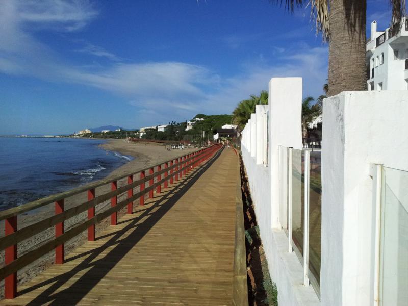 Boardwalk along the coast
