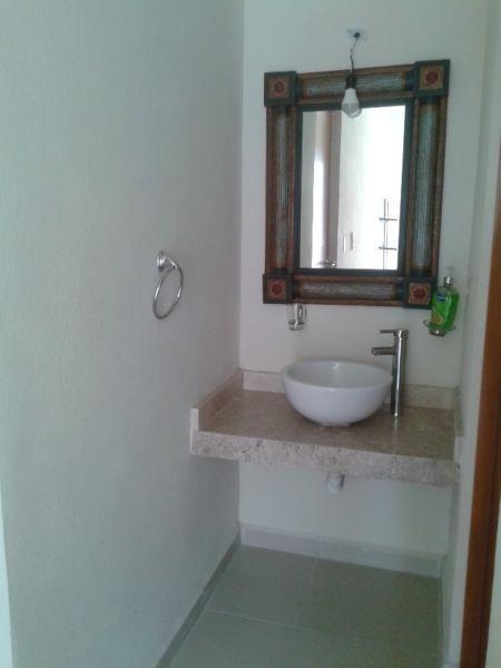 Basin bath in master bedroom