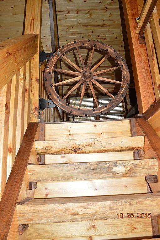 Wheel Gate at the top of the stairs