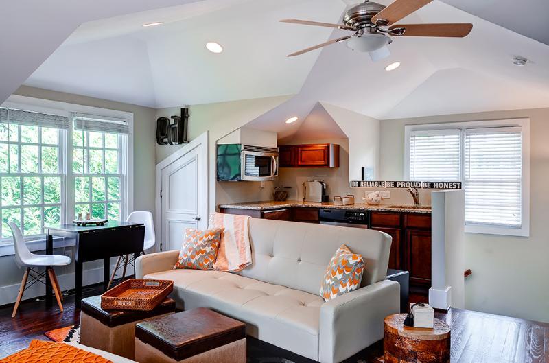 You'll love the stylish interior of this 1-bath Atlanta vacation rental studio.