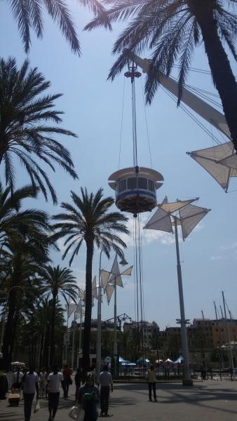 'Bigo' panoramic lift at the old port