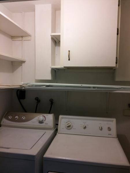 laundry area, washer and dryer
