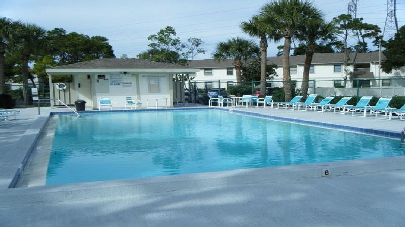 Heated Gated Pool with toilet facilities