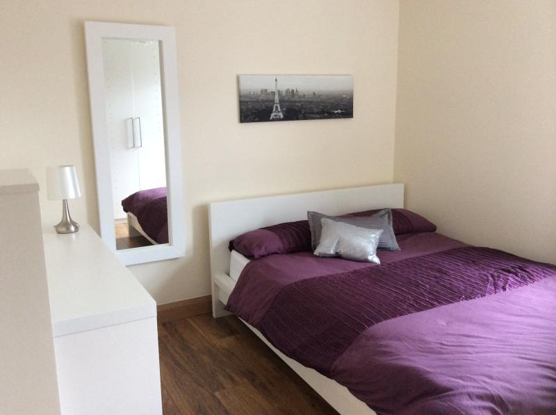 double room, contemporary matt white furniture