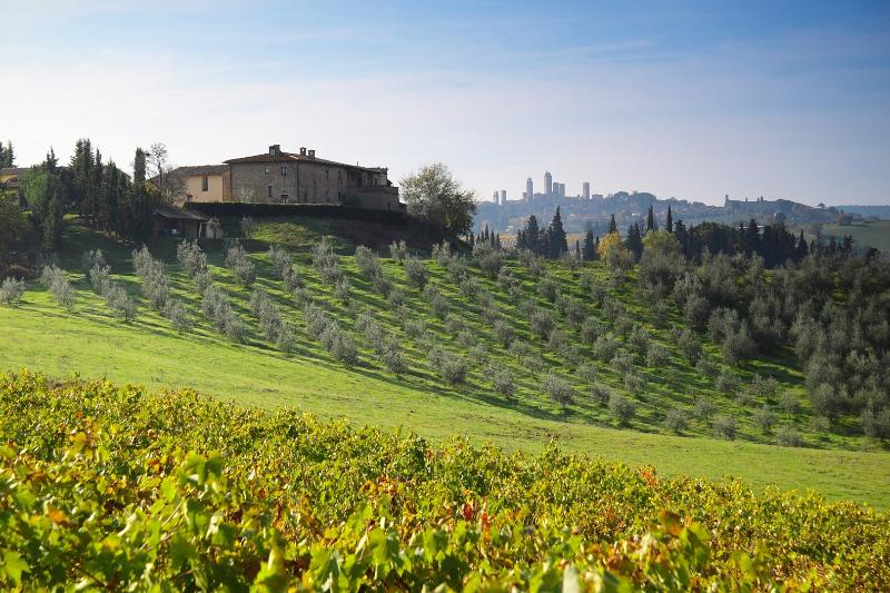 Montegonfoli Farmhouse and San Gimignano Towers