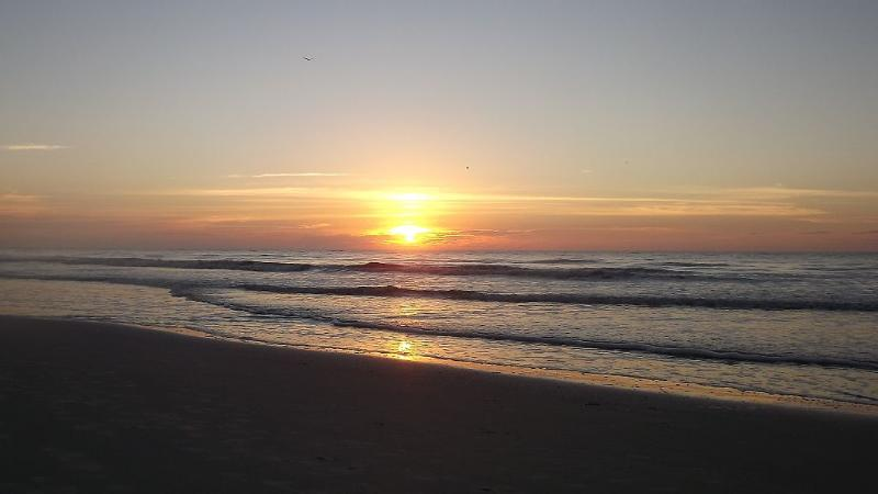 See spectacular Sunrise at Shipyard beach, just a short walk from our condo