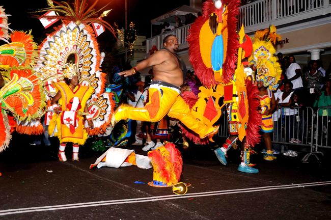 Junkanoo is a street parade with music, dance and costumes, unique to the Bahamas.