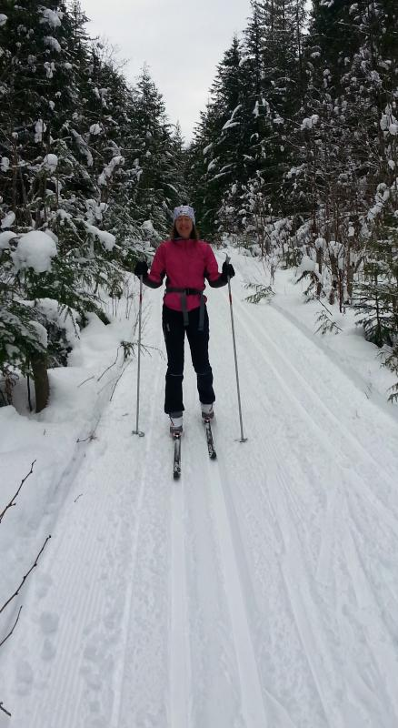 World-class X-C ski trails here.