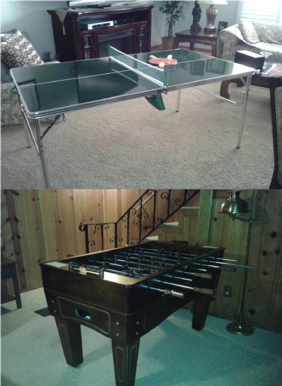 Futbolín y ping-pong interior
