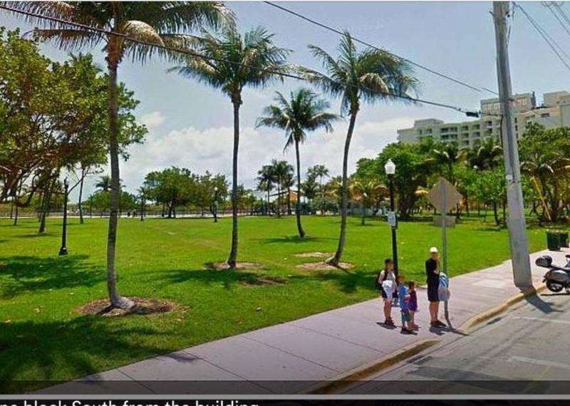 Lummus park on ocean drive just beside