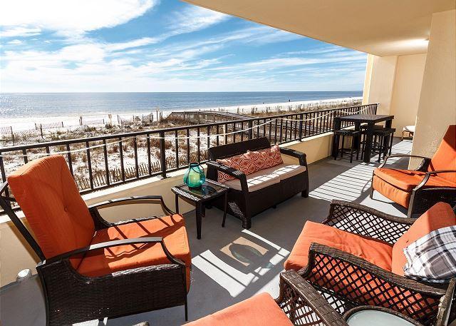 Echa un vistazo al balcón de gran tamaño!