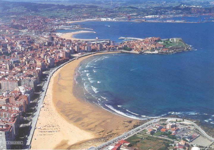 San Lorenzo beach Gijón