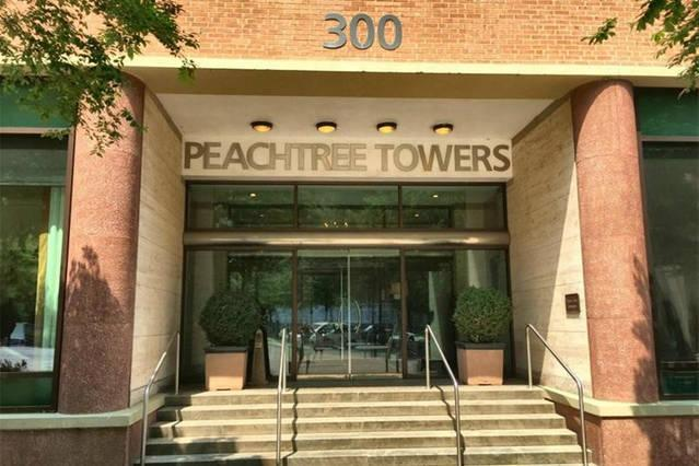 Front of Peachtree Towers building