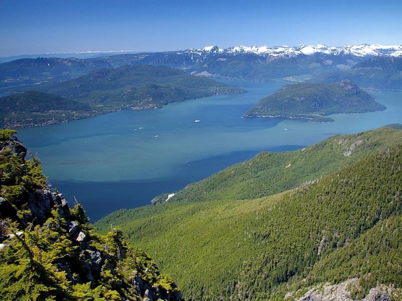Howe Sound fjord; vista from Cypress Mountain only 20 minutes away